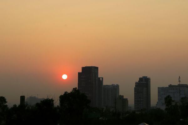 La ville de Mexico sous une nappe de pollution. (image d'illustration)