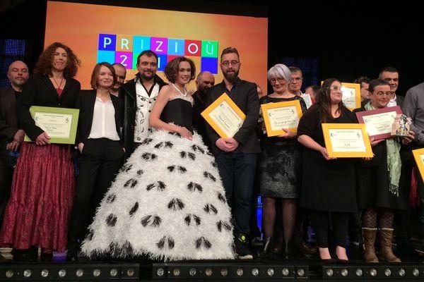 Les lauréats des Prizioù 2015 à Locminé le vendredi 23/01/2015