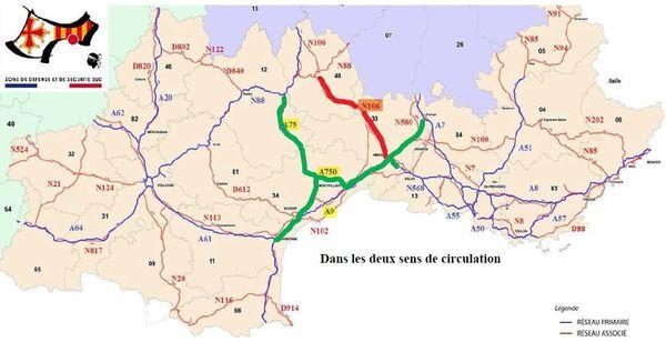 La route nationale 106 est coupée entre la Lozère et le Gard, en raison de l'effondrement de la chaussée sur la commune de Cassagnas.
