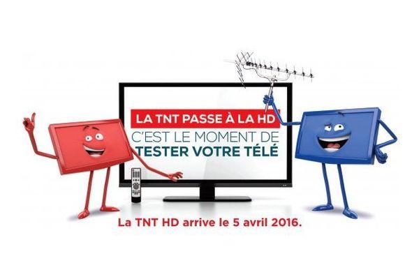 Le passage à la TNT haute définition, c'est dans la nuit du 4 au 5 avril 2016.