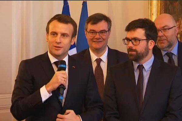 Emmanuel Macron rencontre des élus de Saône-et-Loire à Autun jeudi 7 février 2019