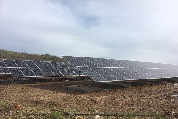 Une centrale photovoltaïque.