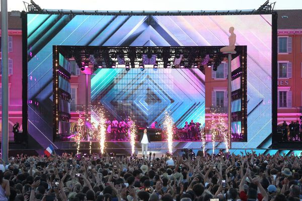 Lors de la Fête de la musique 2019 à Nice.