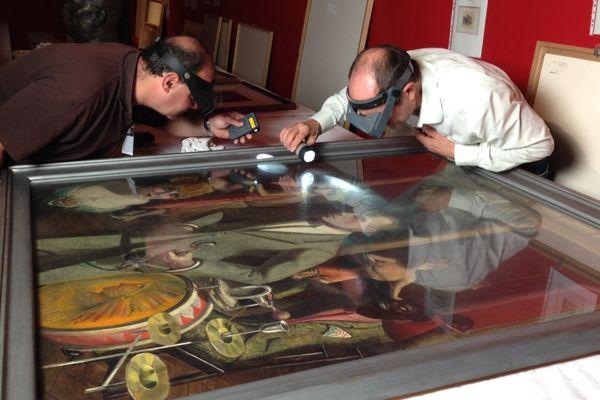 Réception et contrôle d'une soixantaine d'oeuvres majeures prêtées par le musée allemand Von der Heydt.