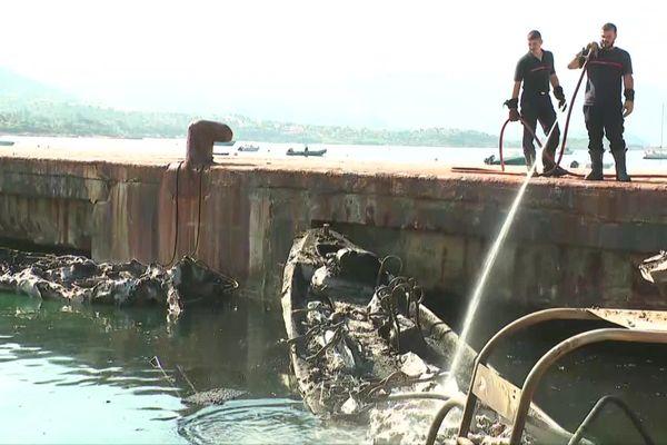 Les dégâts sont considérables dans le port de Sagone.
