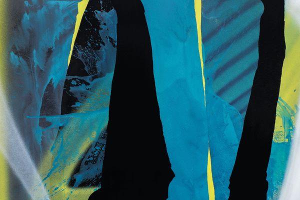 Patrick Jungfleisch travaille désormais à l'acrylique, en plus de la bombe, et il utilise volontiers des techniques mixtes sur la toile.