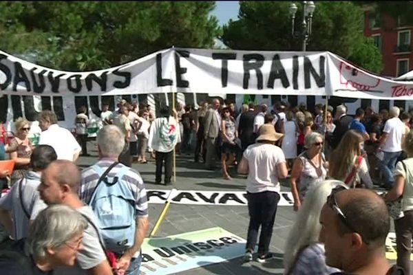 Les usagers mobilisés pour la défense de la ligne Nice-Breil-Cunéo-Vintimille