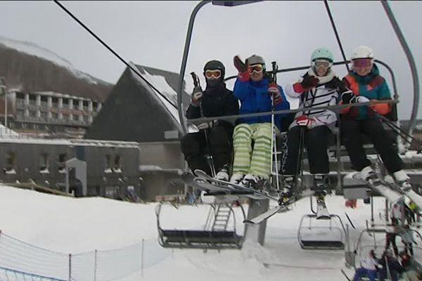 Les skieurs ont retrouvé la joie des sports d'hiver.