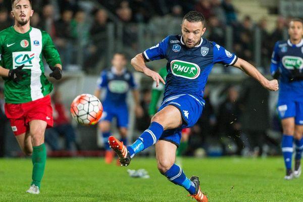 02/01/15 - DANIC (Bastia) 32e finale de la coupe de France entre Sedan et Bastia au stade Louis Dugauguez