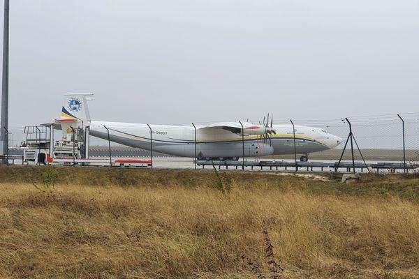 L'AN22 est le plus gros aéronef du monde équipé de turbopropulseurs. Il a décollé de Vatry pour Bakou ce lundi 5 octobre aux alentours de 10h30.