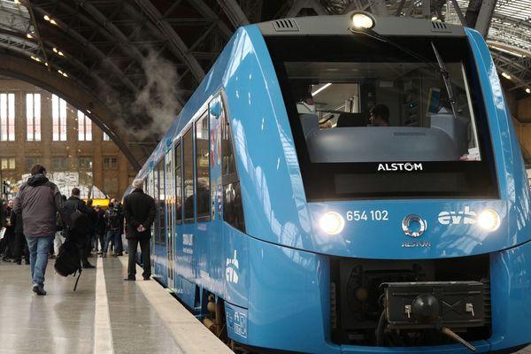 Un train à hydrogène Alstom, en Allemagne