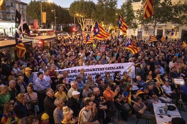 Perpignan - manifestation de soutien des Catalans du nord à la Catalogne - 19 octobre 2019.