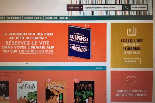 capture écran du site régional librairies-alip.com