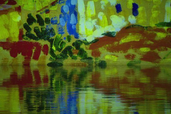 """La nouvelle exposition s'appelle """"Monet, Renoir… Chagall, Voyages en Méditerranée"""". Une réalisation Gianfranco Iannuzzi - Renato Gatto - Massimiliano Siccardi Du 19 mai au 2 janvier 2022 aux Bassins de lumières, bassins à flot, à Bordeaux."""