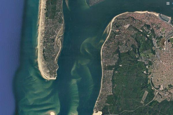 La Pointe du Cap-Ferret subit les assauts des tempêtes hivernales mais aussi les courants entrants et sortants à chaque marée.