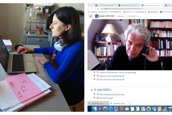 Catherine Bertrand Lara et Alfred Knapp, professeurs à l'Université de La Rochelle