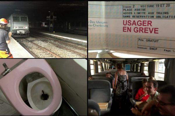 Locomotive qui manque à l'appel, toilettes en piteux état et plus de 20 minutes de retard à l'arrivée, quelques exemples de la galère vécue par les usagers du Paris-Cherbourg qui ont entamé une grève symbolique des billets