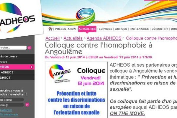 L'association Adheos organisait à Angoulême un colloque dédié à la prévention et la lutte contre l'homophobie