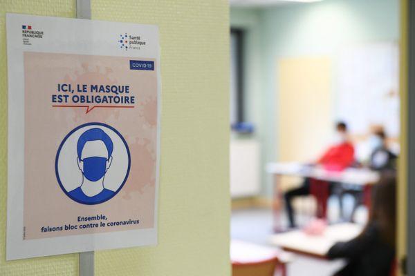 Inscription masque obligatoire dans les établissements scolaires