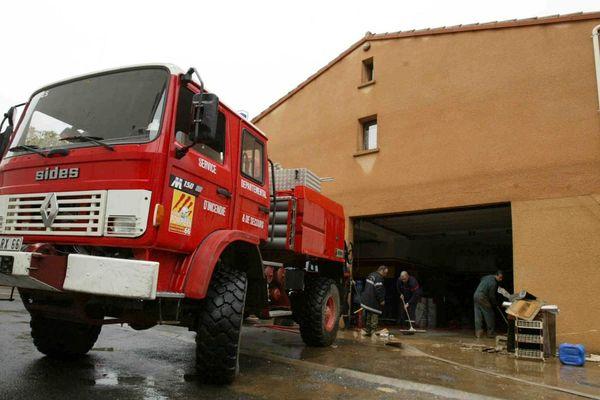 Illustration intervention pompiers suite aux inondations
