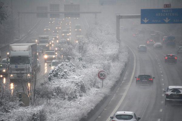 L'autoroute A 15, le 6 février 2018.