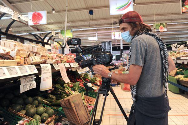 tournage dans un supermarché à Périgny (17)