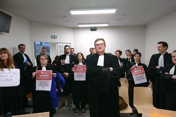 Les avocats du barreau de Caen réunis le 10 janvier au tribunal administratif