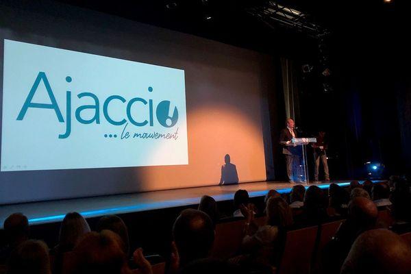 Laurent Marcangeli lors du lancement de Ajaccio...le mouvement, en février dernier