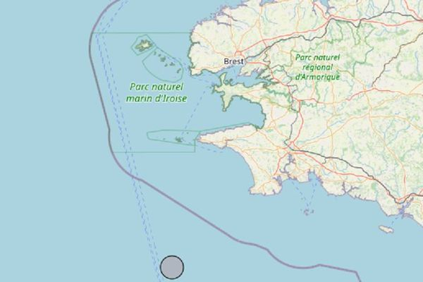 L'épicentre se trouve en mer au large de Penmarc'h