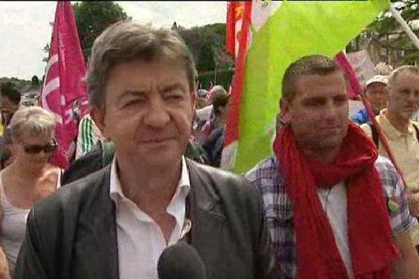 Jean-Luc Mélenchon, dans la manifestation du 13 juin 2015 à Guéret