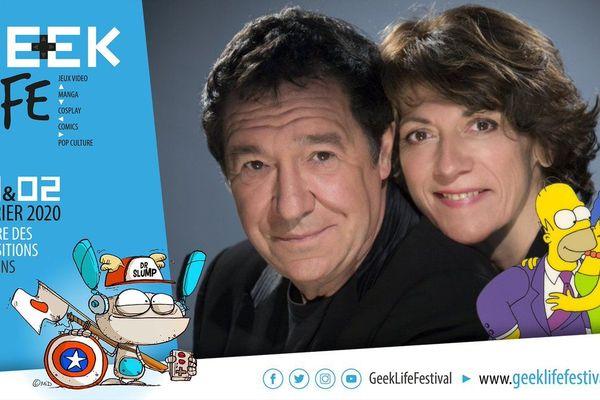 Philippe Peythieu et Véronique Augereau, les voix françaises d'Homer et Marge Simpson