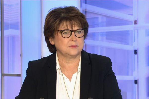 Martine Aubry, le 2 décembre, sur le plateau de France 3 Nord Pas-de-Calais.