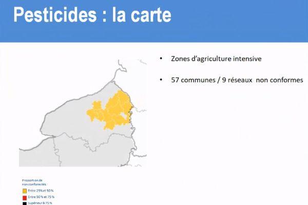 les pesticides constituent la principale cause de non-conformité.