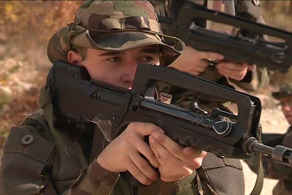 Soldat réserviste à Canjuers, dans le Var
