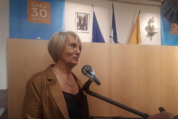 Françoise Laurent Perrigot (Socialistes et apparentés), nouvelle présidente du Conseil départemental du Gard.