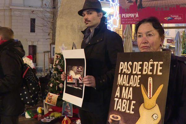 Une vingtaine de militants étaient rassemblés en centre-ville de Perpignan.