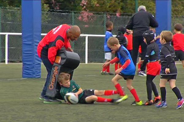 Les jeunes de l'école de rugby du Sporting Nazairien Rugby
