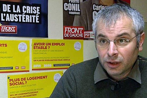 Matthieu Charlionet est tête de liste du Front de Gauche pour les municipales à Rouen.