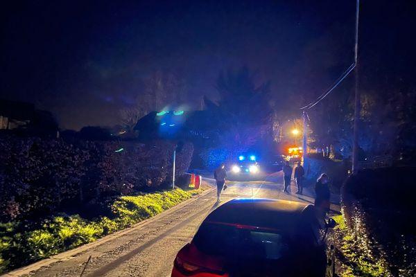 A Touques, le périmètre de sécurité pour l'enquête suite à l'accident de l'hélicoptère