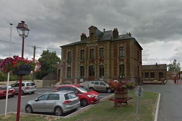 La mairie de la Haye-Malherbe