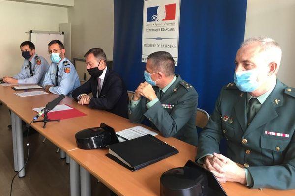 Le procureur de Perpignan a annoncé le résultat de cette enquête lors d'une conférence de presse en présence de deux officiers de la Guardia Civil de Girona.
