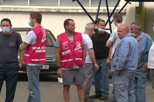Les salariés de Peugeot Japy à Valentigney dans le Doubs ont débrayé ce 25 août 2020.