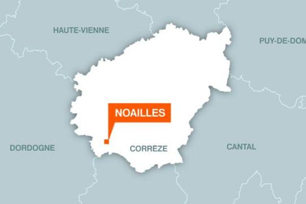 Emplacement de la commune de Noailles, en Corrèze