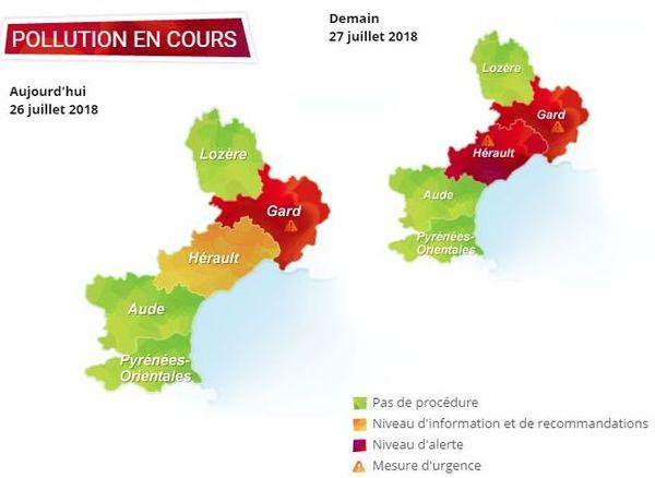 Carte pollution d'Air LR