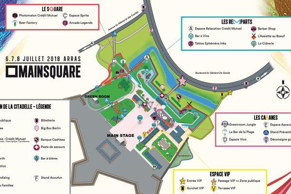 L'organisation du Main Square a dévoilé le plan du festival pour l'édition 2018.
