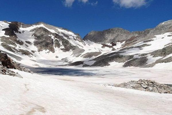 Jour 41 : début du secteur Perdiguère/Gourgs Blancs (7 sommets) Juste avant la montée au Hito Occidental du Perdiguère.