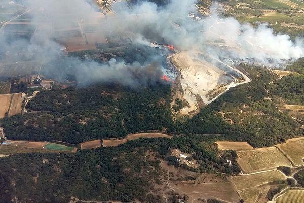 Saint-Nazaire (Gard) - le feu a détruit 25 hectares - 18 août 2017.