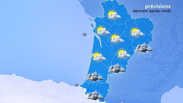 La carte météo du samedi 31 juillet