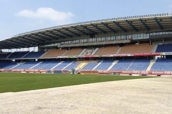 La pelouse du Stade de l'Aube récompensée.