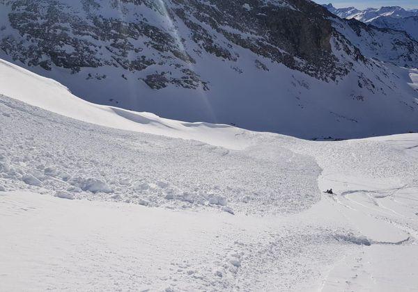 L'avalanche n'a fait aucune victime.